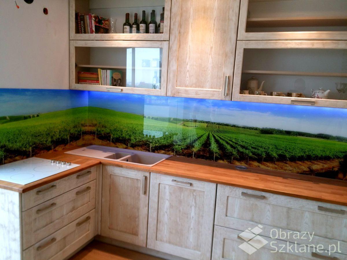 Pejzaże na szkle do kuchni  Obrazyszklane p -> Kuchnia Gazowa Do Zabudowy Na Szkle